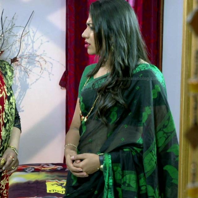 Chandana Raghavendra Kannada tv actress Sindoora S3 12 hot saree photo