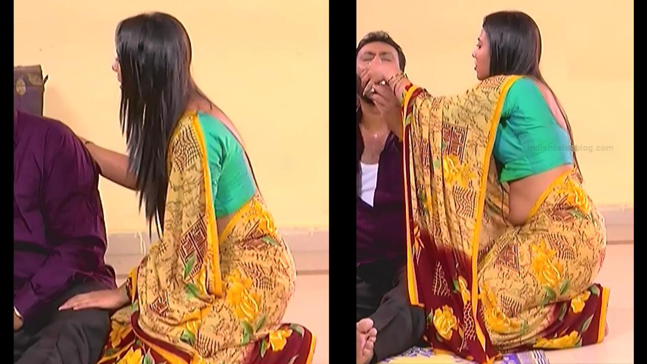 Chandana Raghavendra Kannada tv actress Sindoora S3 2 hot saree pics