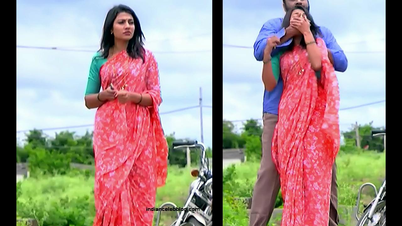 Chandana Raghavendra Kannada tv actress Sindoora S3 3 hot saree pics