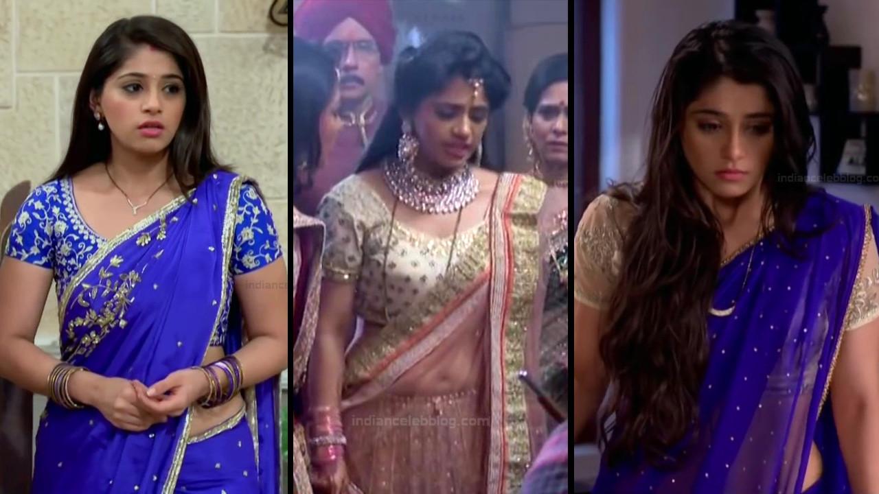 Chandni Bhagwanani sexy midriff navel show HD tv caps