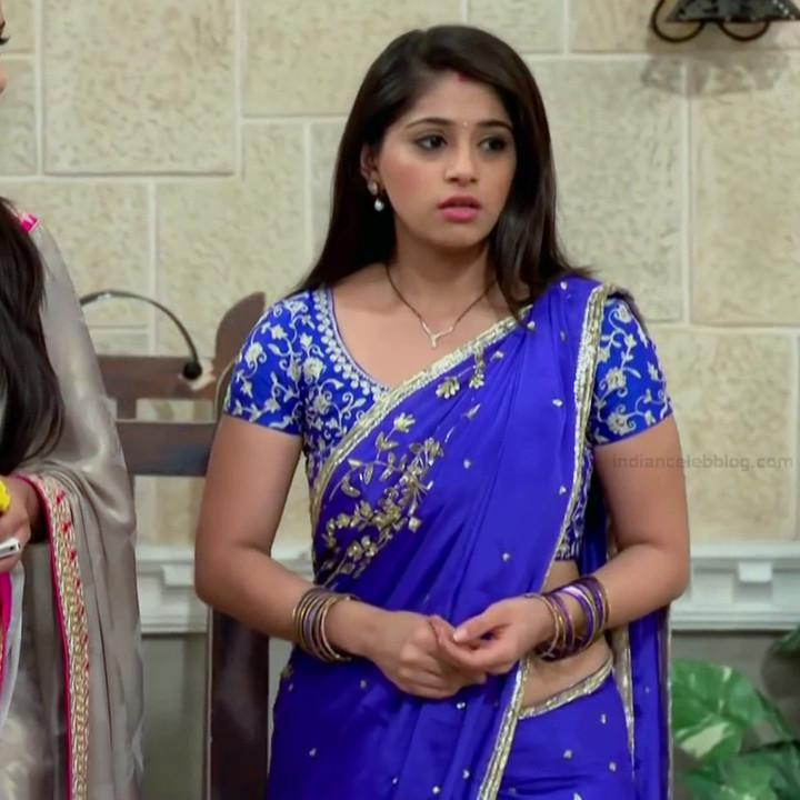 Chandni Bhagwanani hindi tv actress Tumhi S3 2 hot saree caps