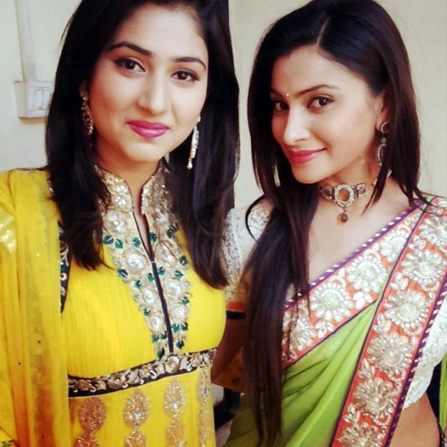 Hindi TV actress Aleeza khan CTS2 8 hot sari photo