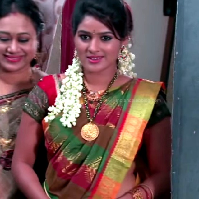 Monisha telugu tv actress Nandhini VNS1 9 hot saree photo