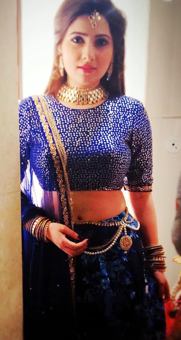 Naazuk Lochan Hindi TV actress JijiMS1 11 hot lehenga photo