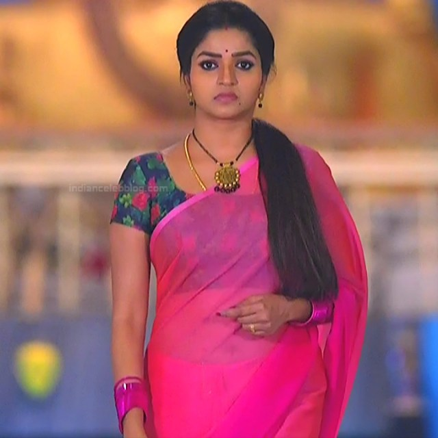 Nithya ram Tamil tv actress Nandhini S1 17 hot saree photo