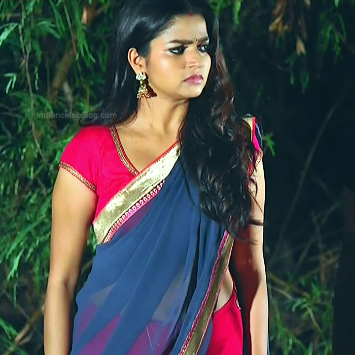 Nithya ram Tamil tv actress Nandhini S1 5 hot saree photo