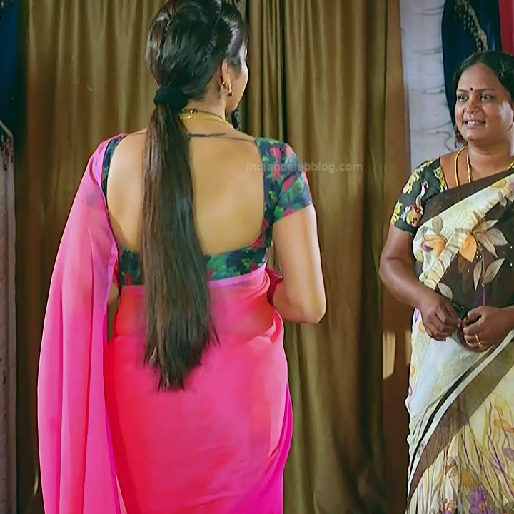 Nithya ram Tamil tv actress Nandhini S1 7 hot sari photo