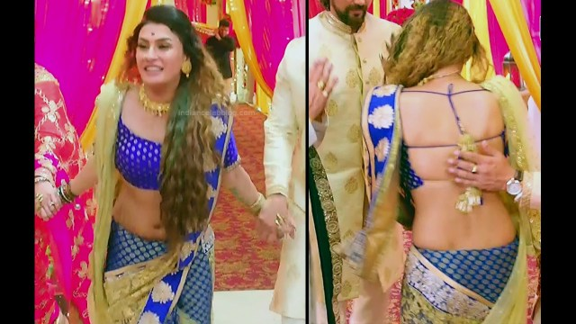 Pavitra punia hindi tv actress Naagin 3S1 10 hot backless blouse pics