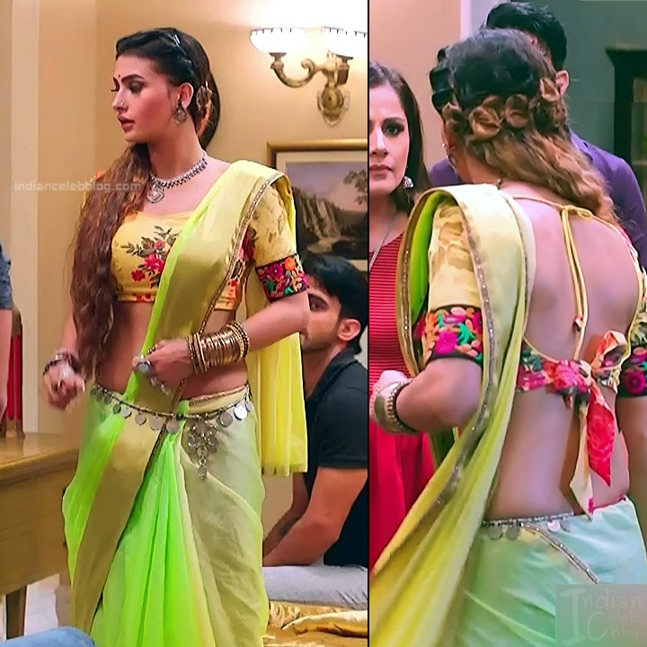 Pavitra punia hindi tv actress Naagin 3S1 8 hot backless blouse pics