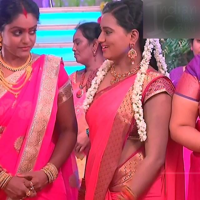 Princy B Krishnan Telugu Tv actress Kumkuma PS2 7 hot saree photo