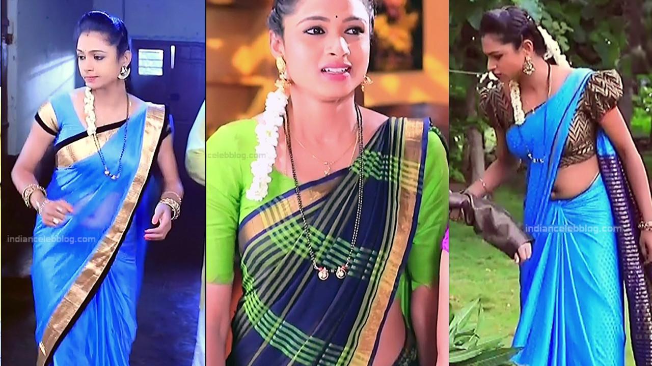 Ruthu Sai Kannada TV actress Putta GMS1 15 hot saree photo