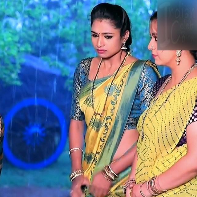Ruthu Sai Kannada TV actress Putta GMS1 5 hot sari photo