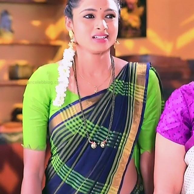 Ruthu Sai Kannada TV actress Putta GMS1 8 hot saree photo