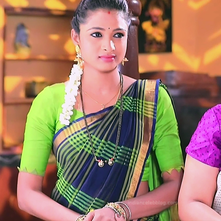Ruthu Sai Kannada TV actress Putta GMS1 9 hot saree image