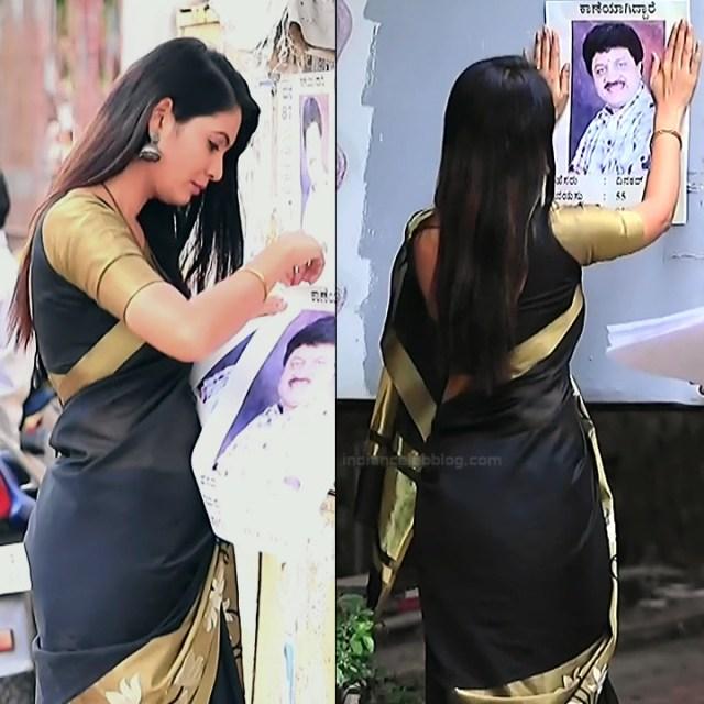 Shwetha R Prasad Kannada TV actress Radha RS1 14 Saree pics