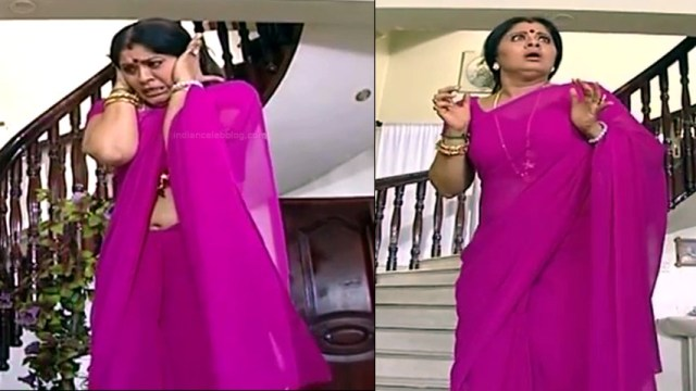 Sudha chandran tamil tv actress Pondatti TS2 11 hot sari pics