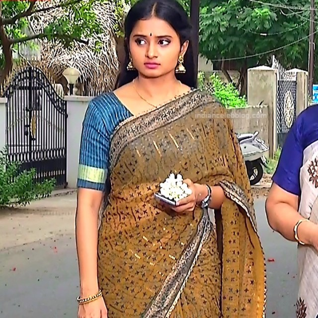 Varshini tamil tv actress sumangali S1 1 hot sari photo