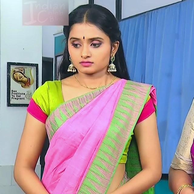 Varshini tamil tv actress sumangali S1 6 hot sari caps