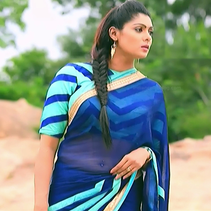 Anu Chinnappa kannada tv actess Muddu LS1 16 saree navel caps
