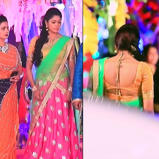 Anu Chinnappa kannada tv actess Muddu LS1 2 saree pics