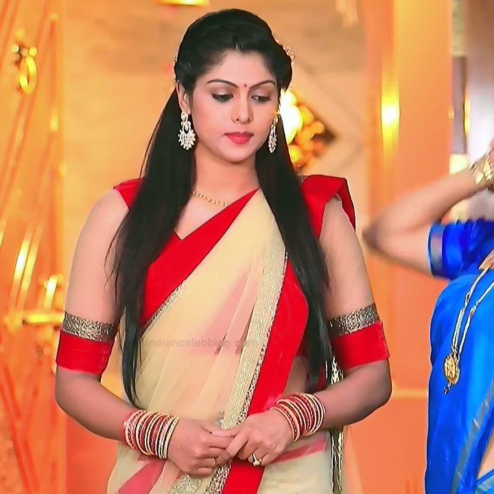 Anu Poovamma kannada tv actess Muddu LS1 5 saree photo