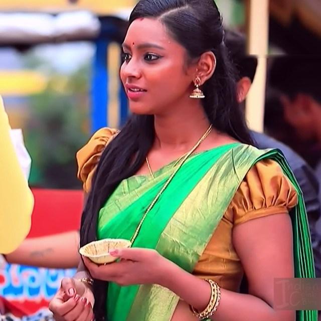 Ashwini Kannada TV actress Muddu LS1 12 saree photo