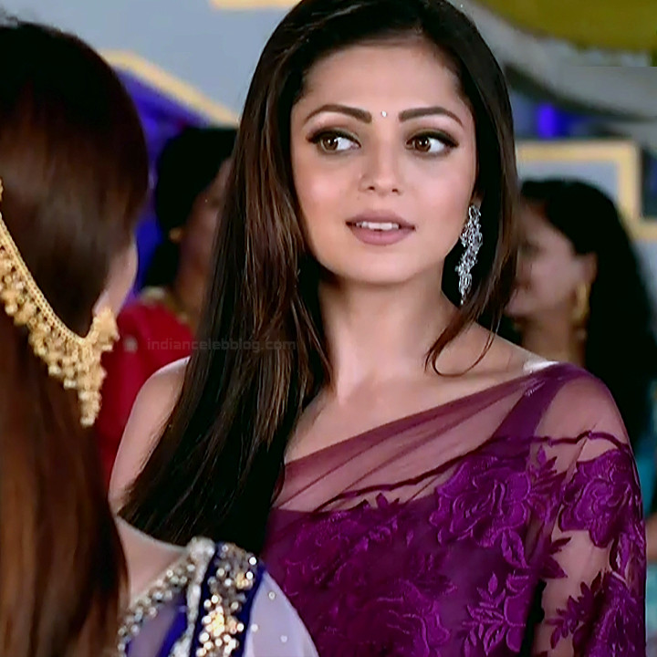Drashti Dhami sexy backless low waist saree HD tv caps