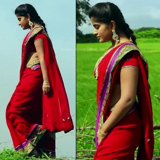 Keerthana podwal tamil tv actress ganga S1 6 hot saree pics