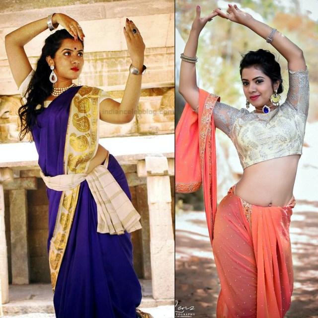 Lasya Nagaraj Kannada actress CTS2 2 hot saree pics