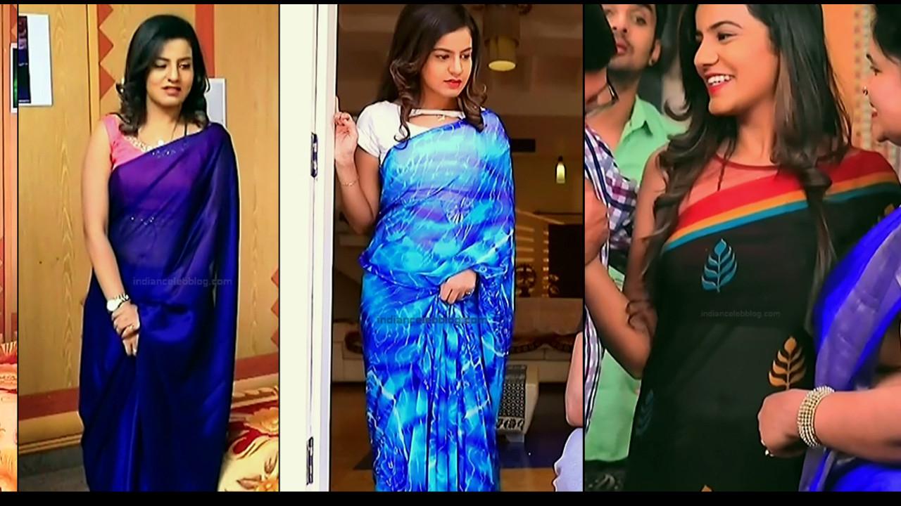 Namratha Gowda transparent saree navel show kannada tv hd caps