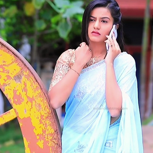 Namratha gowda kannada tv actress Putta GMS1 2 saree photo
