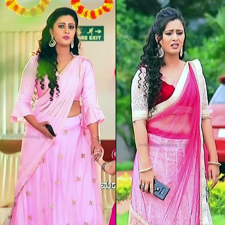 Neha Gowda Kannada tv actress Lakshmi BS1 17 hot saree pics