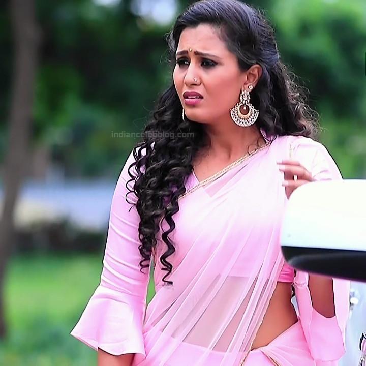 Neha Gowda Kannada tv actress Lakshmi BS1 4 hot saree photo