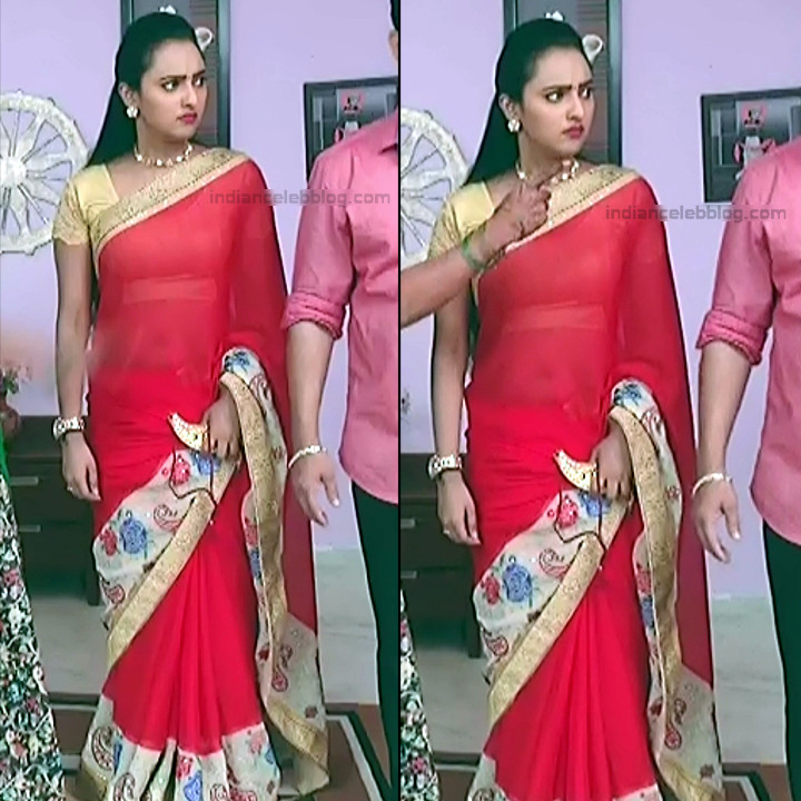 Priyanka Kannada TV actress Agnisakshi S111 hot sari navel pics