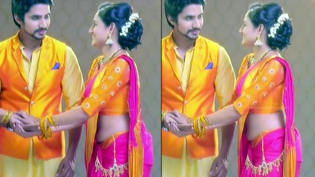 Ranjani raghavan kannada tv actress Putta GMS3 16 hot saree pics