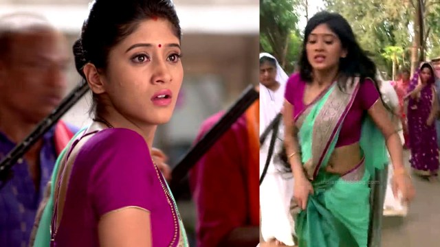 Shivangi Joshi hindi tv actress Begusarai S1 22 hot saree pics