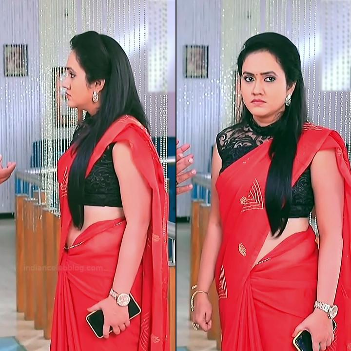 Sindhu Kalyan kannada tv actress PuttaGMS2 3 hot saree pics