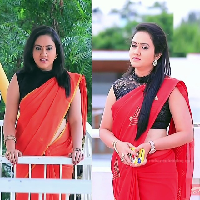 Sindhu Kalyan kannada tv actress PuttaGMS2 6 hot saree pics