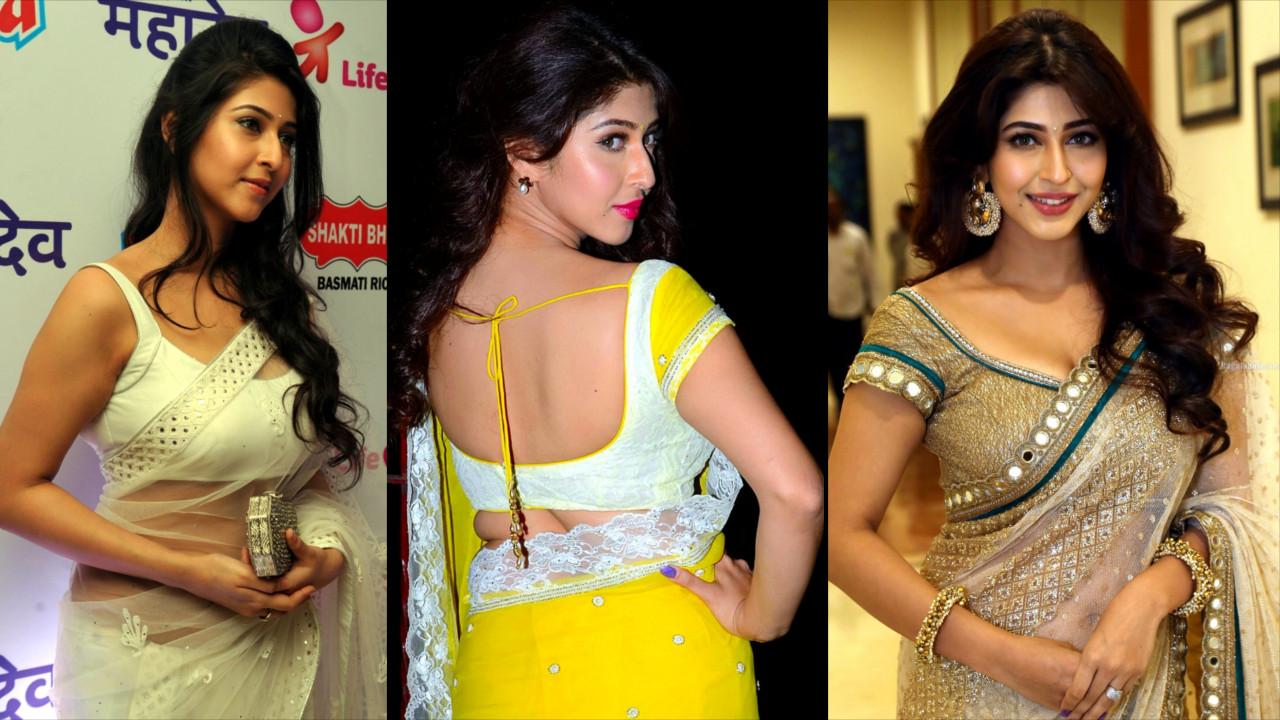 Sonarika Bhadoria Hindi TV and film actress hot Event pics in saree