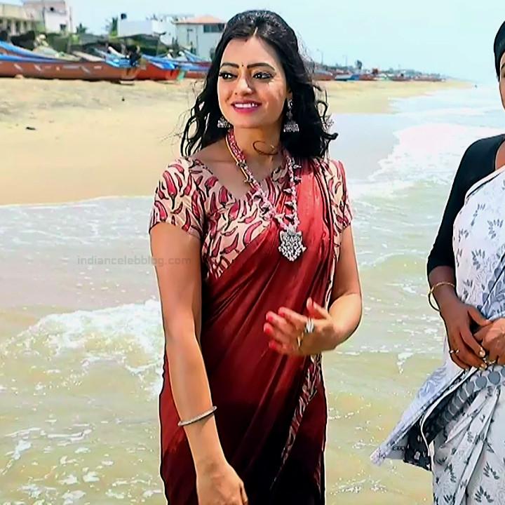 Sowmya rao Tamil tv actress Nenjam MS1 11 hot sari pics