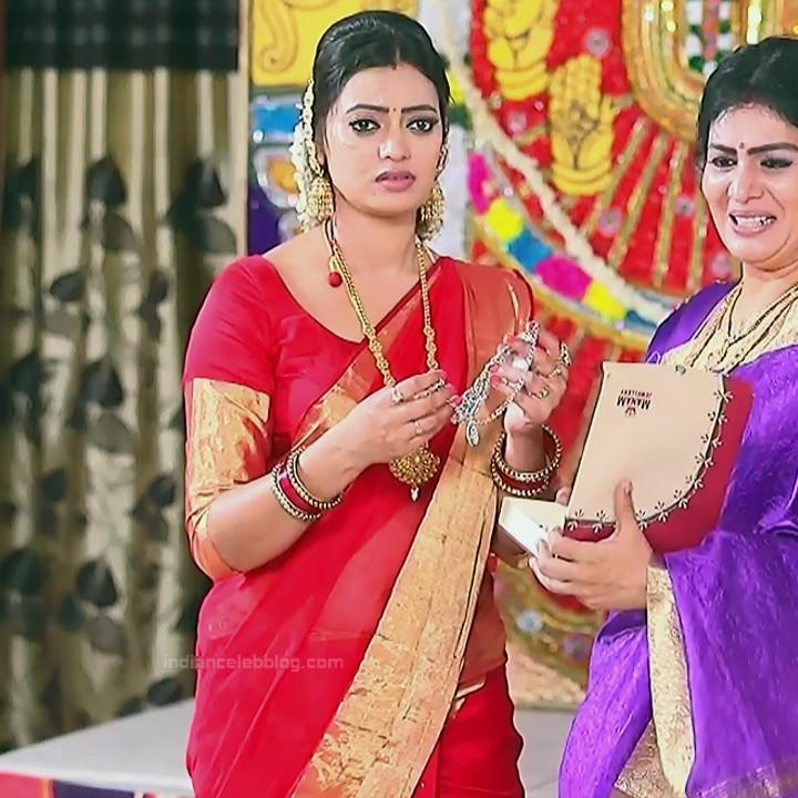 Sowmya rao Tamil tv actress Nenjam MS1 13 hot saree photo