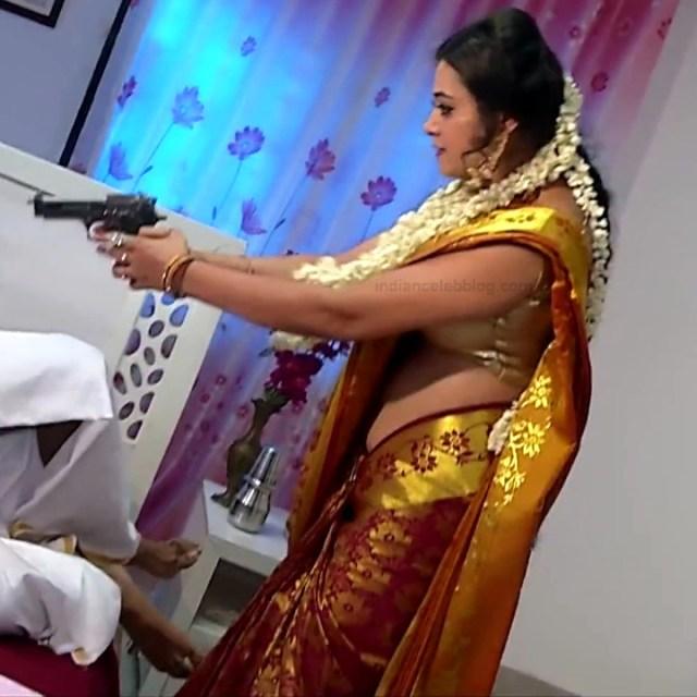 Sowmya rao Tamil tv actress Nenjam MS1 17 hot saree caps