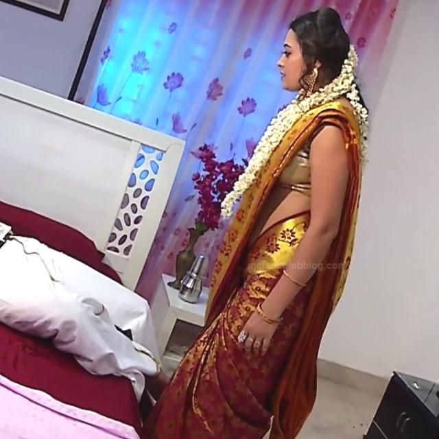 Sowmya rao Tamil tv actress Nenjam MS1 19 hot saree caps