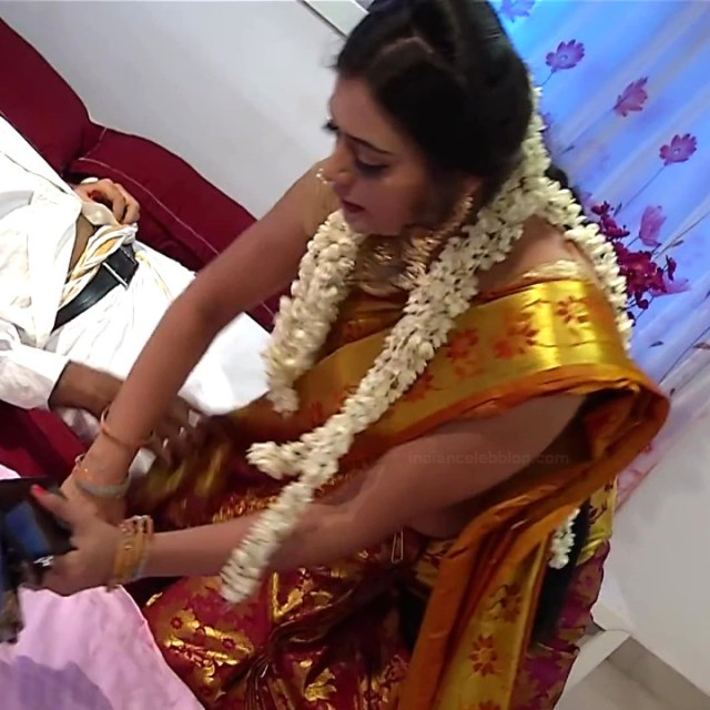 Sowmya rao Tamil tv actress Nenjam MS1 20 hot saree caps