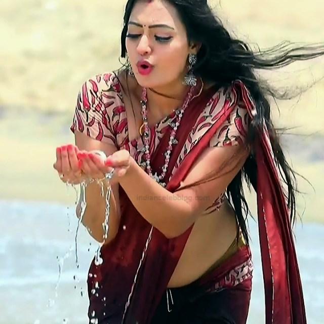Sowmya rao Tamil tv actress Nenjam MS1 3 hot saree photo