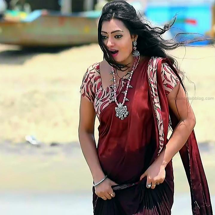 Sowmya rao Tamil tv actress Nenjam MS1 6 hot saree photo