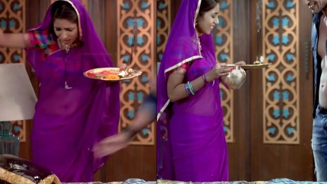 Veebha anand hindi tv actress begusarai S1 9 sari pics