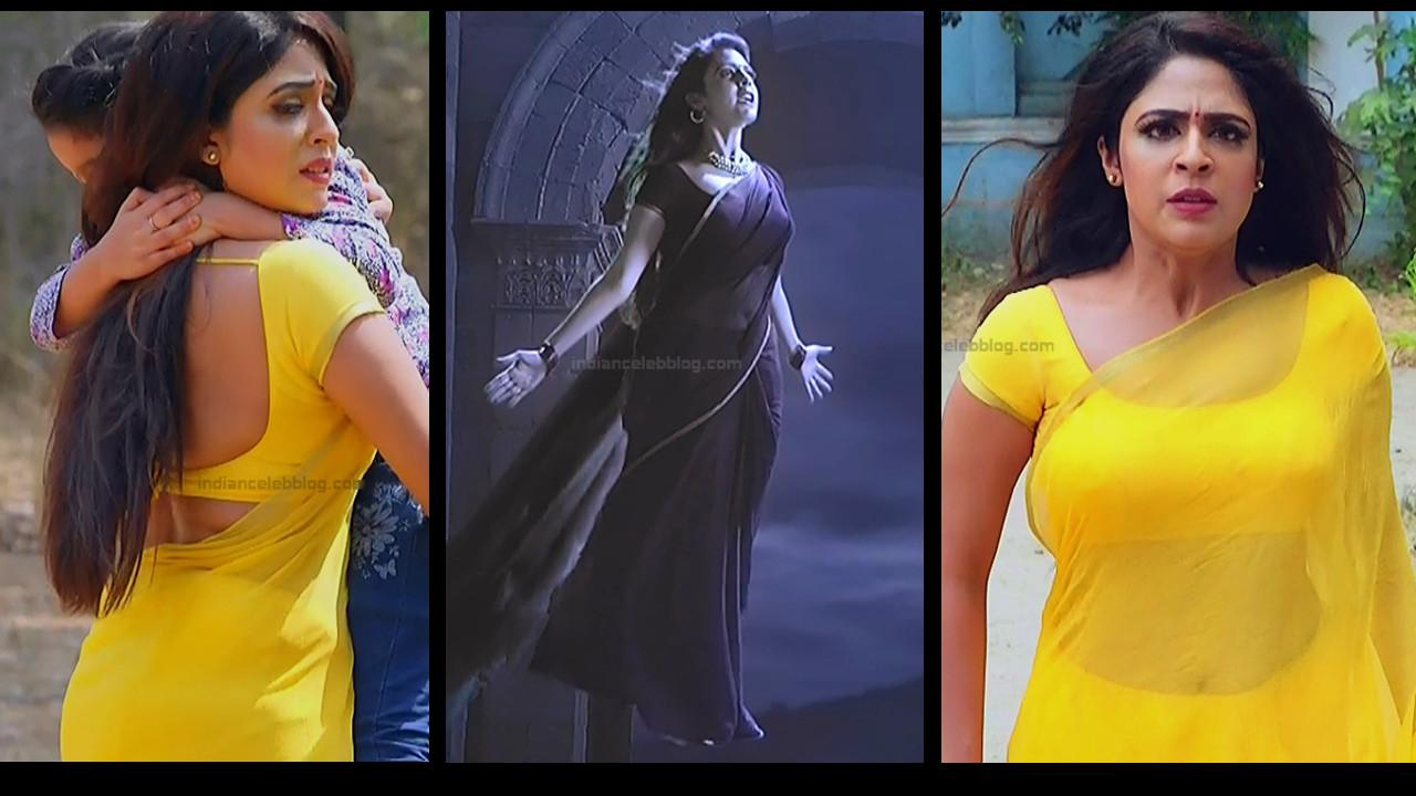 Malavika wales hot navel n backless saree Caps - Nandini
