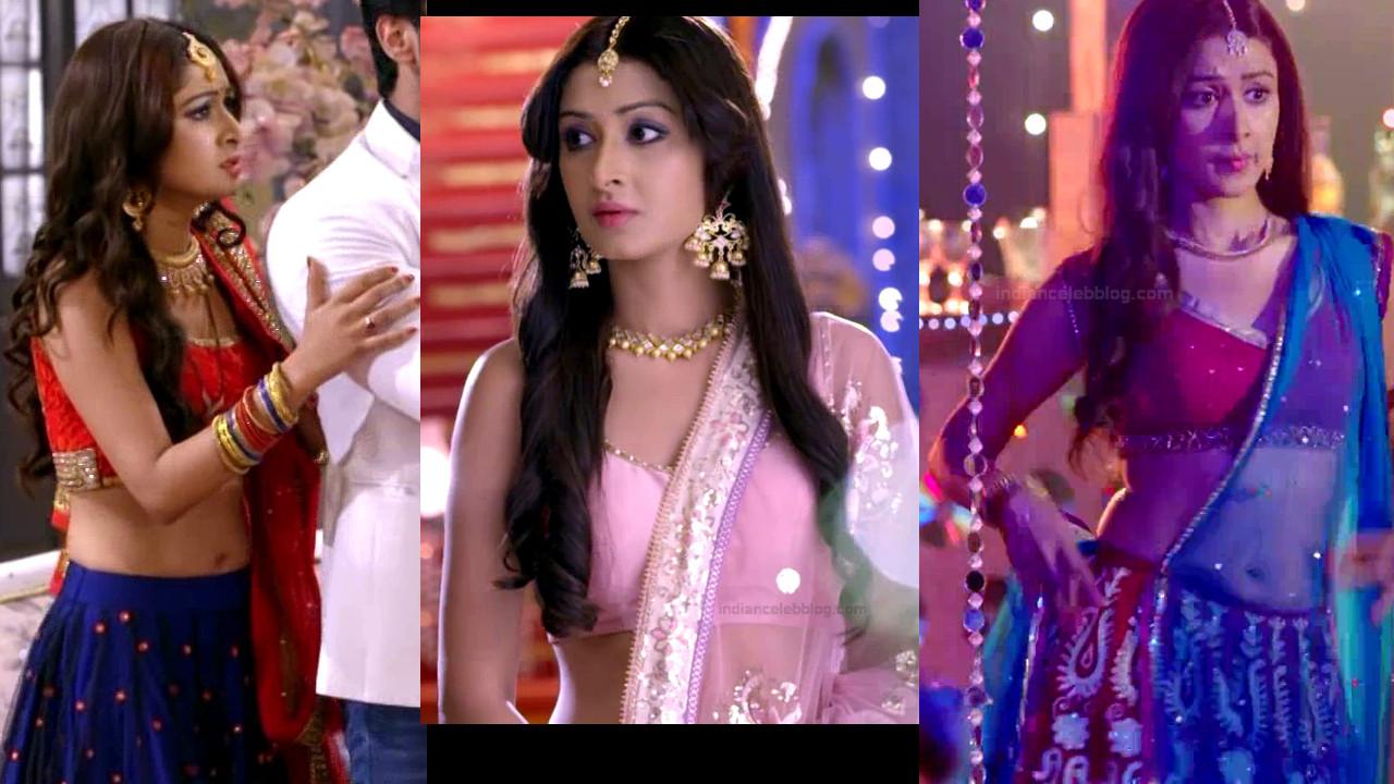 Farnaz shetty navel show in lehenga choli hindi tv caps