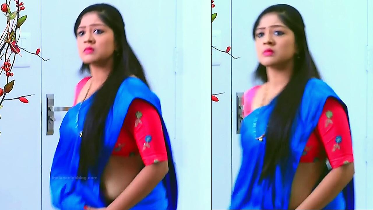 Meghana shankarappa kannada serial actress kinnari 5 hot saree pics